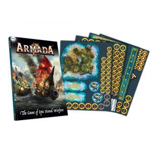 Kow Armada kniha pravidel a žetony