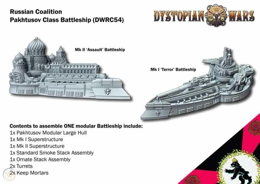 Pakhtusov Class Battleship: DW 2.5