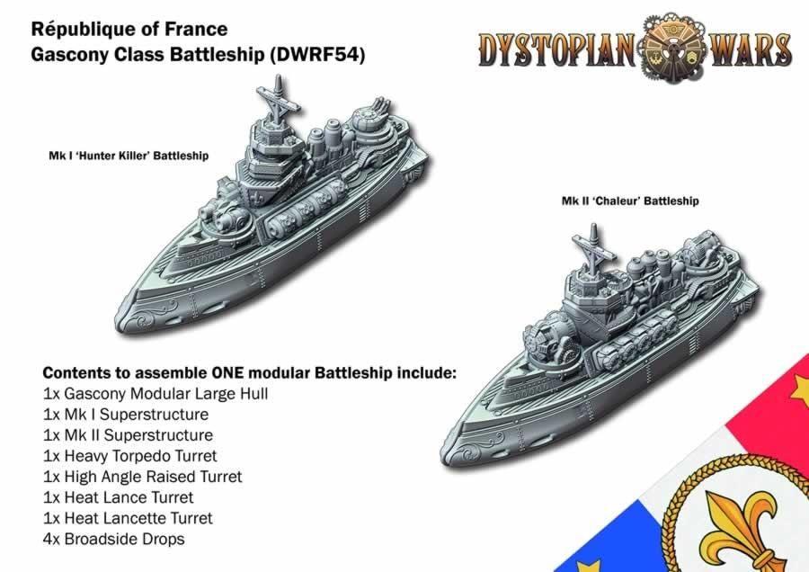 Gascony Class Battleship: DW 2.5